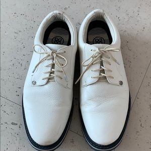 Other - White leather golf shoes